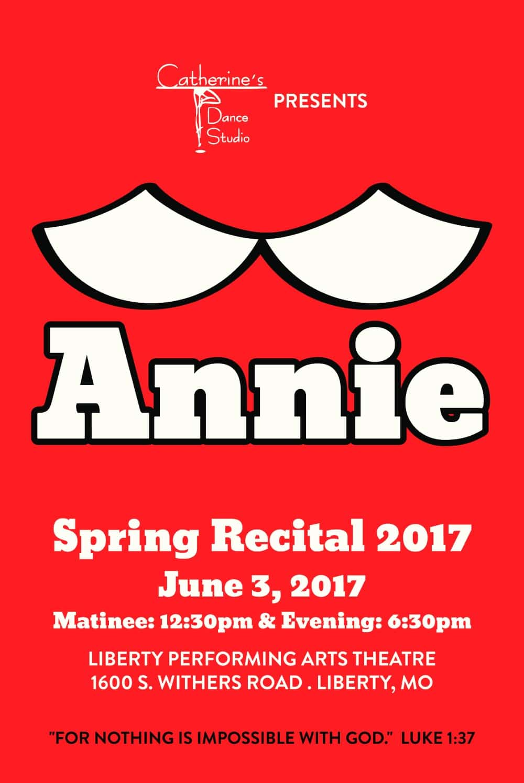 Catherine's Dance Studio Spring 2017 Dance recital.