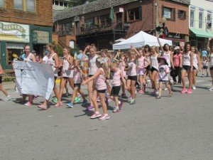 Summer Dance Classes in camp like sessions allow students to participate in the Parkville Days Parade down Main Street in Parkville.
