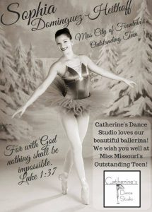 Our students use their training to be part of bigger things at Catherine's Dance Studio, 170 English Landing Drive, Suite 111 Parkville, MO 64152