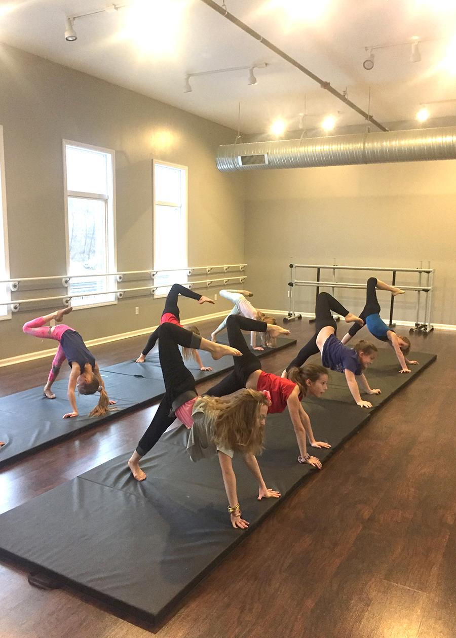 Acro Dance Class, Catherine's Dance Studio, Parkville, MO