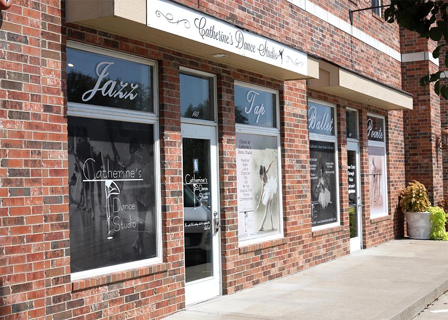 Front door, Catherine's Dance Studio, Parkville, MO